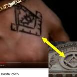 Squadra e compasso con occhio onniveggente in un videoclip di Vasco Rossi