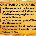 Riguardo la massoneria e il cristianesimo, noi Cristiani dichiariamo che…